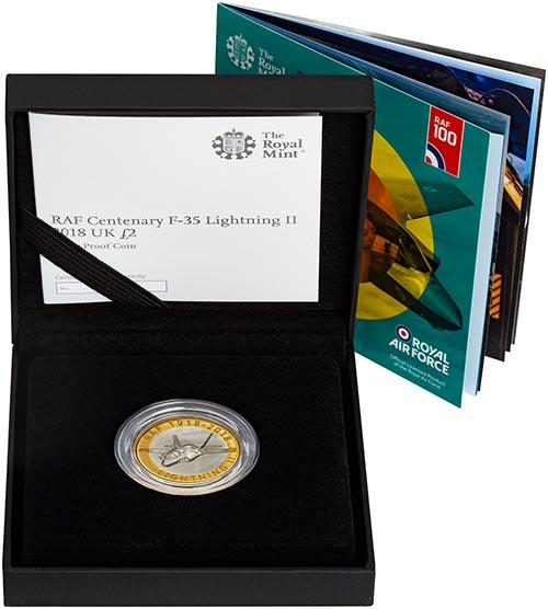 2018 UK Coin £2 Silver Proof RAF Centenary Lightning 23600