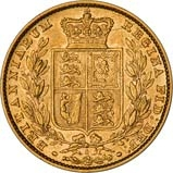 1880 Gold Sovereign Victoria Young Head Shield Sydney aVF VF Inverted A 23970
