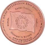UK Coin EU Medallion Copper 20717