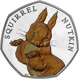 2016 UK Coin 50p Silver Proof Beatrix Potter - Squirrel Nutkin 21544
