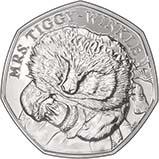 2016 UK Coin 50p BU Beatrix Potter - Mrs Tiggy-Winkle 24024