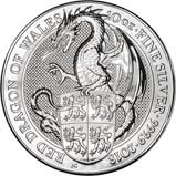 2018 10 oz Silver Coin Bullion Queen's Beasts - Red dragon 22359