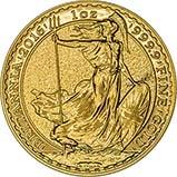 2016 1 oz Gold Coin Britannia Bullion 21526