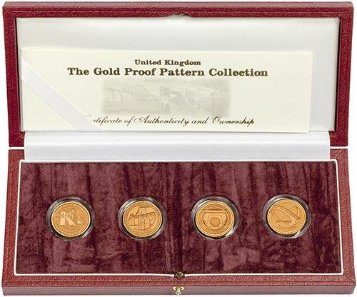 2003 Bridges £1 Gold Proof Pattern Collection 23710