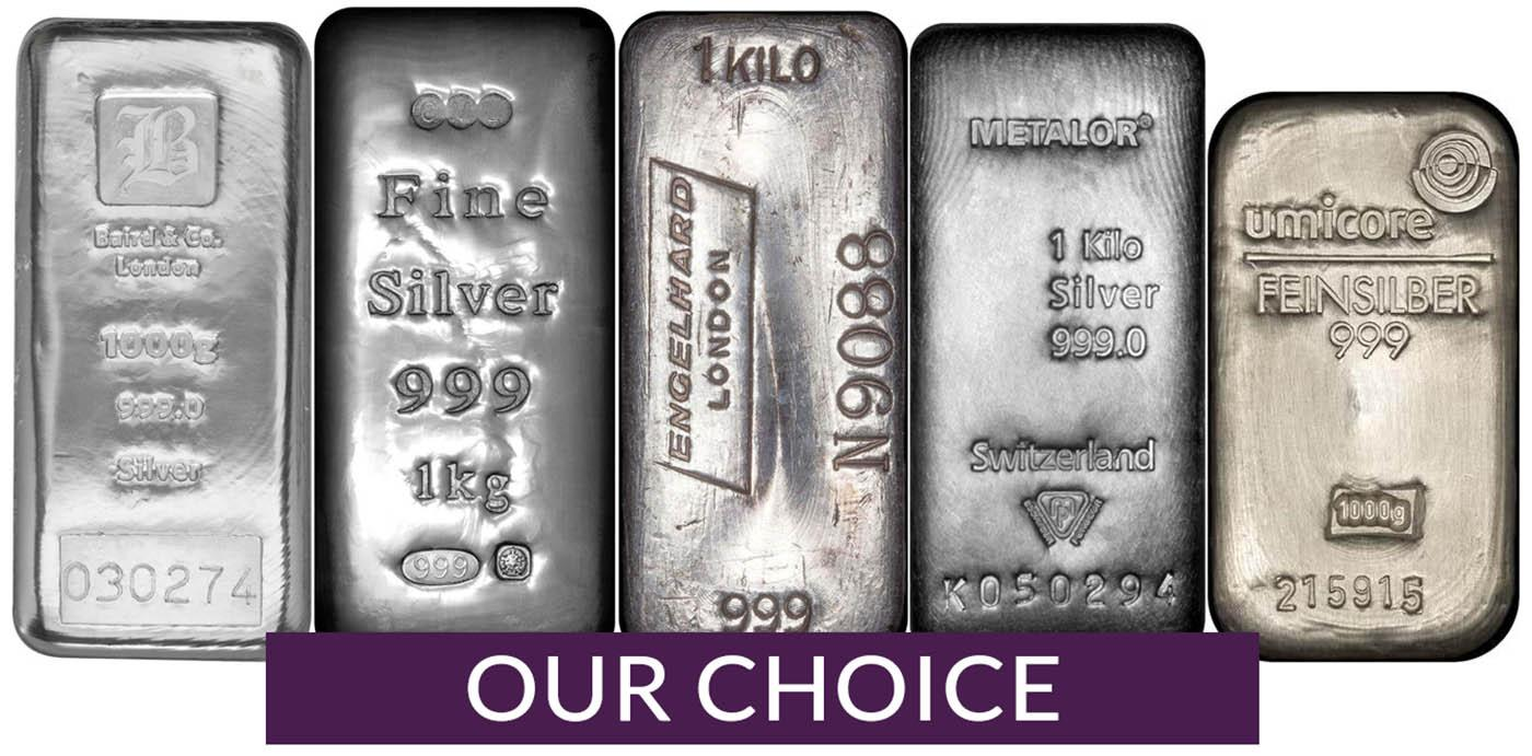 1kg Silver Bars L Investment Bullion L Chards From 733 58