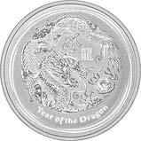 2012 0.5 oz Silver Coin Lunar Year of the Dragon Perth Mint Bullion 24655