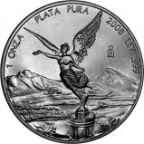 2008 Silver Mexico Libertad Bullion 48