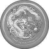 2012 1 Kg Silver Coin Lunar Year of the Dragon Perth Mint Bullion 23377