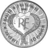 2000 Silver French 10 Francs Millennium Proof Yves Saint Laurent Design 21579
