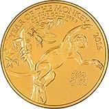 2016 1 oz Gold Coin Lunar Year of the Monkey Royal Mint Bullion 25077