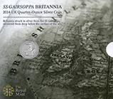2014 0.25 oz Silver Coin Britannia SS Gairsoppa In Sleeve 23559