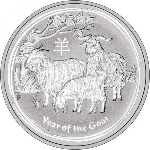 Series II from Perth Mint in Australia 2015 Lunar Goat 1 oz Silver Coin