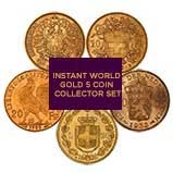 Gold Coin Bundle Instant World Collector - 5 Coins 22730