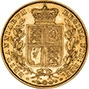 1859 Gold Sovereign Victoria Young Head Shield London aVF gVF Ansell 23426