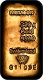 250g Gold Bar Metalor New 22481