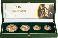 2006 Four Coin Gold Proof Sovereign Set Presentation Box