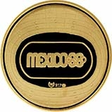 1968 Gold Mexico Olympic Medal Bullion 21809