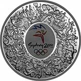 2000 1 Kg Silver Australian Thirty Dollars ($30) Proof Sydney Olympics  23447