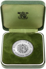 1972 UK Coin Crown Silver Proof Silver Wedding Anniversary 23395