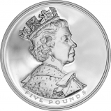 2002 UK Coin £5 / Crown Silver Proof Golden Jubilee 56