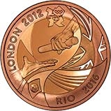 2012 UK Coin £2 Gold Proof Olympic Handover to Rio 25081