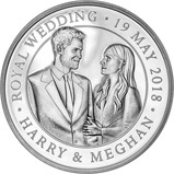 2018 UK Coin £5 / Crown Silver Proof Royal Wedding - Harry and Meghan 24538