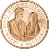 2018 UK Coin £5 / Crown Gold Proof Royal Wedding - Harry and Meghan 22484