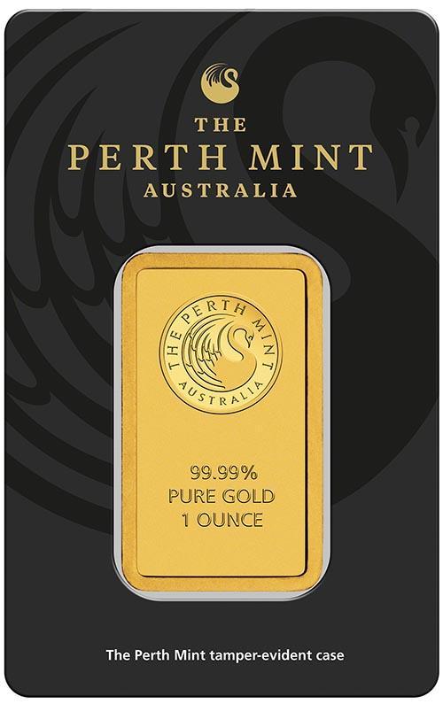 1 oz Perth Mint Gold Bar New w// Assay