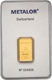 10g Gold Bar Metalor New 24780