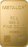 50g Gold Bar Metalor New 23848