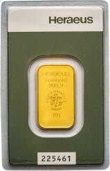 10g Gold Bar Heraeus Pre-Owned 71