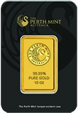 10 oz Gold Bar Perth Mint Kangaroo 21163