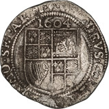 1604 UK Coin James I Sixpence 22815