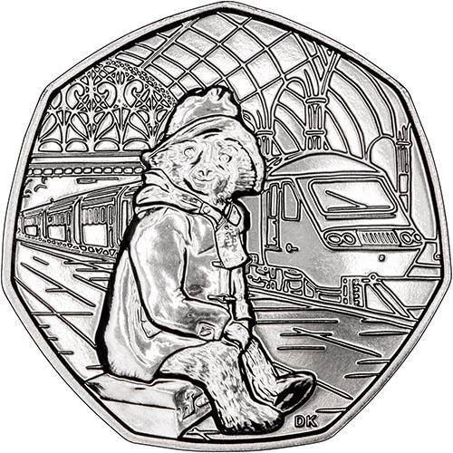 Paddington Bear 50p PADDINGTON AT THE STATION 50p 2018 UNCIRCULATED 50 pence