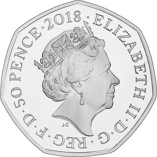 2018 UK Coin 50p Silver Proof Paddington Bear - Paddington Station 22638