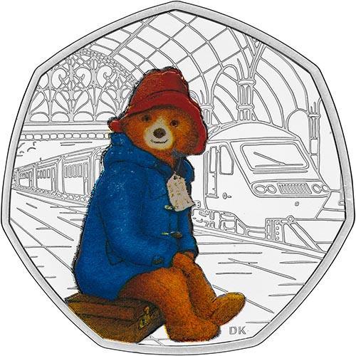 2018 UK Coin 50p Silver Proof Paddington Bear - Paddington Station 22639