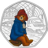 2018 UK Coin 50p Silver Proof Paddington Bear - Paddington Station 22639