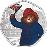 2018 UK Coin 50p Silver Proof Paddington Bear - Buckingham Palace 23670