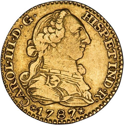 1787 Gold Spain 1 Escudo Madrid Carlos III 23852