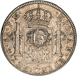 1784 Silver 5 Shillings Counter Stamped 24295