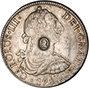 1784 Silver 5 Shillings Counter Stamped 24296