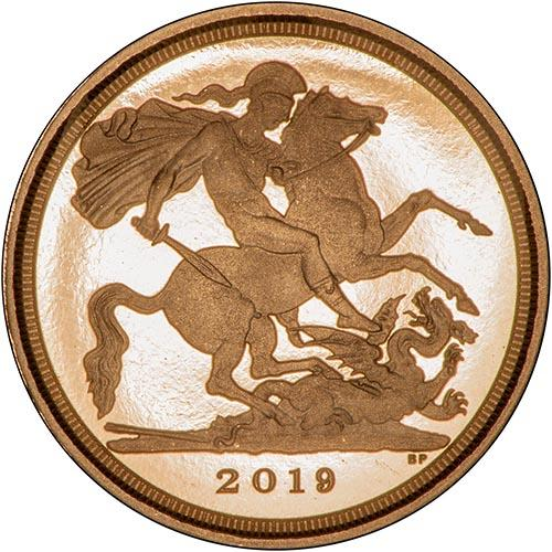2019 Gold Proof Quarter Sovereign 23675