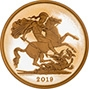 2019 5-Coin Gold Proof Sovereign Set £5 Reverse