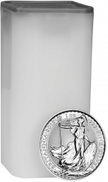 2019 1 oz Silver Coins in Tube Britannia Bullion - 25 Coins 25605