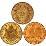Gold Coin Bundle French 20 Franc - 3 Coins 20673