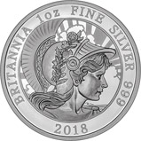 2018 1 oz Silver Coin Britannia Proof 24408