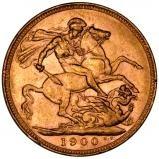 1900 Gold Sovereign Victoria Old Head Perth 21102