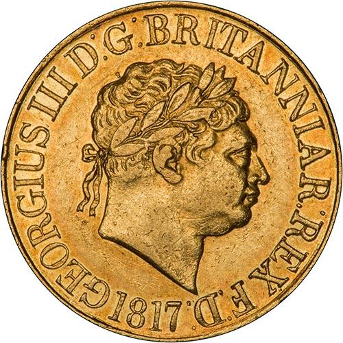 1817 Gold Full Sovereign George III 24980