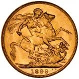 1899 Gold Sovereign Victoria Old Head Perth 23974