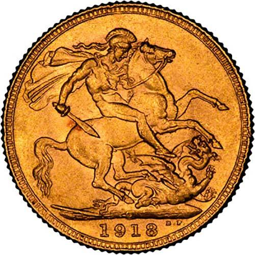 1918 Gold Sovereign George V Canada